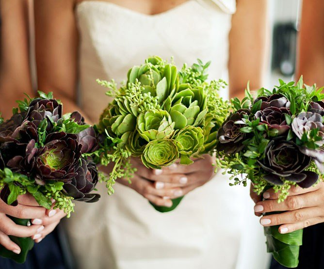 Popular succulent and ivy berry bouquets